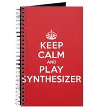 Keep Calm Play Synthesizer Journal