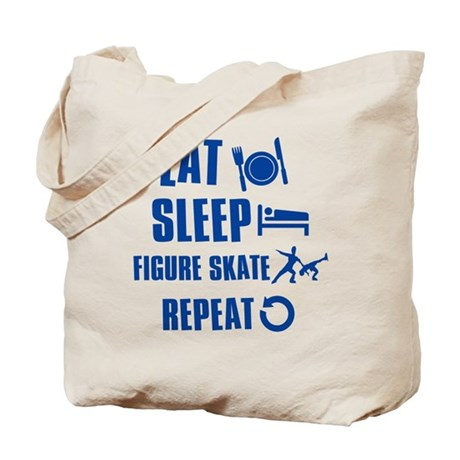 Eat Sleep Figure Skate Tote Bag