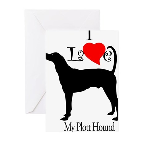 Plott Hound Greeting Cards (Pk of 10)
