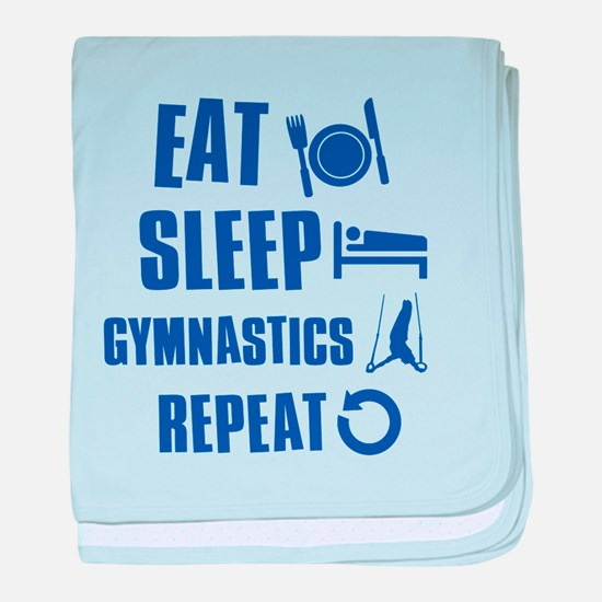 Eat Sleep Gymnastics baby blanket