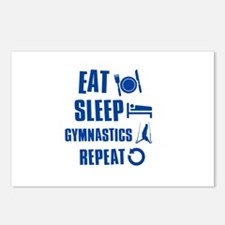 Eat Sleep Gymnastics Postcards (Package of 8)