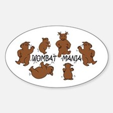 Wombat Mania Oval Decal