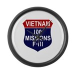 100 Missions Large Wall Clock