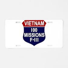 100 Missions Aluminum License Plate
