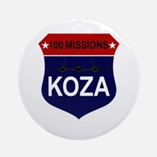100 Missions Ornament (Round)
