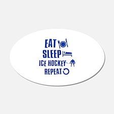 Eat Sleep Ice Hockey Wall Decal