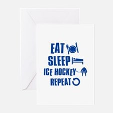Eat Sleep Ice Hockey Greeting Cards (Pk of 20)