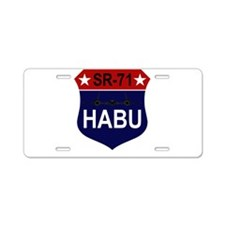 SR-71 Aluminum License Plate