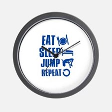 Eat Sleep Jump Wall Clock