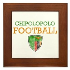 Zambia Football Framed Tile