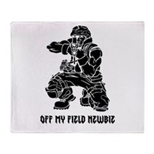 Off My Field Newbie Throw Blanket