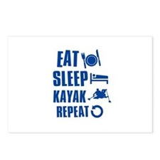Eat Sleep Kayak Postcards (Package of 8)