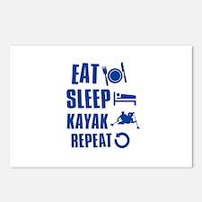 Eat Sleep Kayak Postcards (Package of 8)