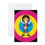 Hippie Rock Star Guitarist Greeting Card