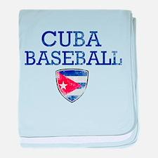 Cuba Baseball baby blanket