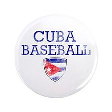"Cuba Baseball 3.5"" Button"