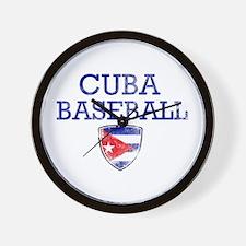 Cuba Baseball Wall Clock