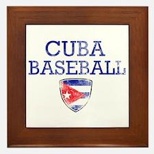 Cuba Baseball Framed Tile