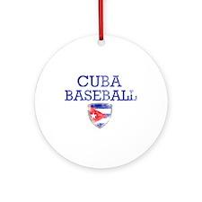 Cuba Baseball Ornament (Round)