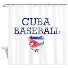 Cuba Baseball Shower Curtain