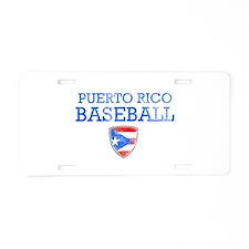 Puerto Rico Baseball Aluminum License Plate