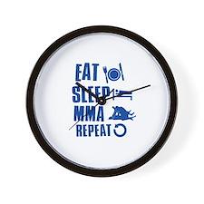 Eat Sleep MMA Wall Clock