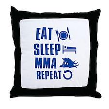Eat Sleep MMA Throw Pillow