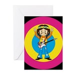Hippie Rock Star with Guitar Cards (Pk of 20)