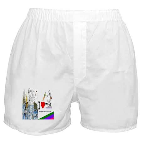 I Love Work Boxer Shorts