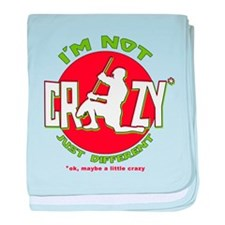 Im Not Crazy (lacrosse) baby blanket