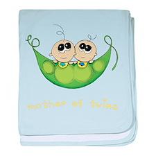 Mother of Twins, Boy/Boy baby blanket