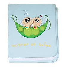 Mother of Twins, Boy/Girl baby blanket