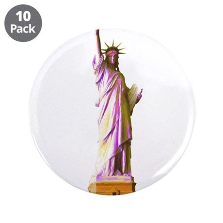 """Lady Liberty 3.5"""" Button (10 pack)"""