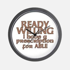 Cute Ready and able Wall Clock