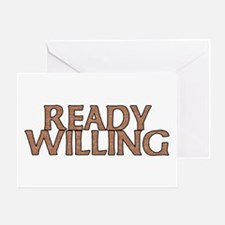Unique Ready and willing Greeting Card