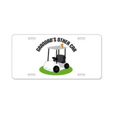Grandad Golf Cart Aluminum License Plate