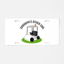 Grandpa Golf Cart Aluminum License Plate