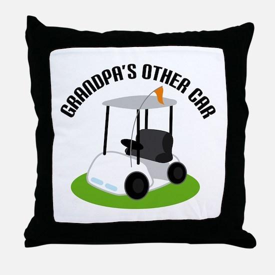 Grandpa Golf Cart Throw Pillow