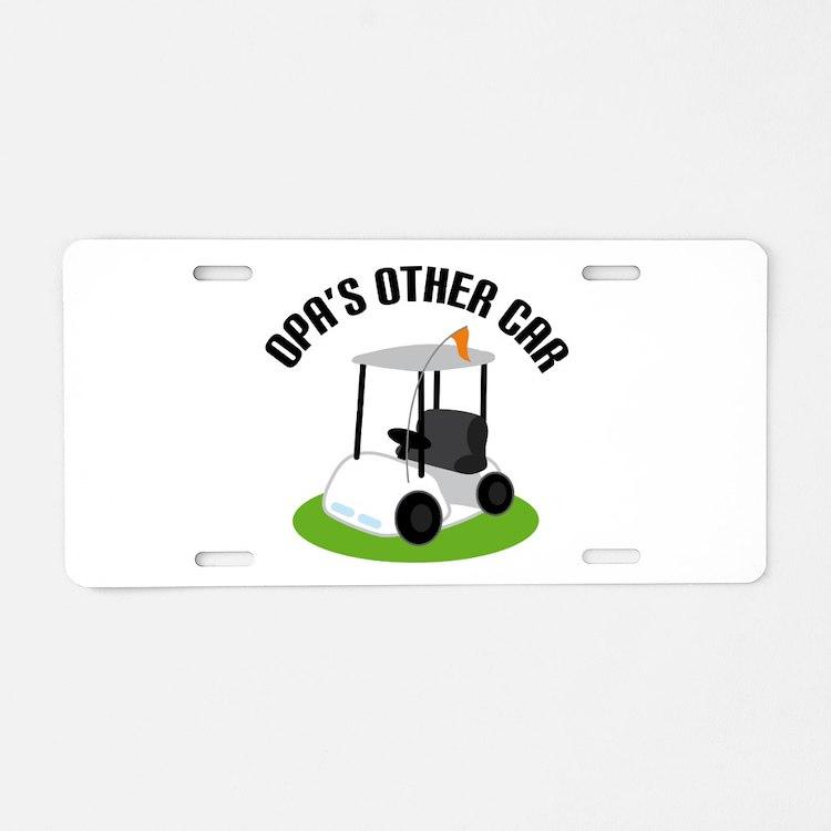 Opa Golf Cart Aluminum License Plate