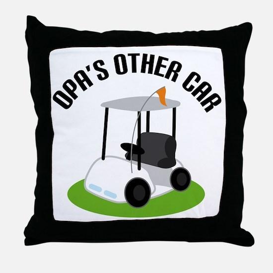Opa Golf Cart Throw Pillow