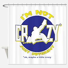 I'm Not Crazy (hockey) Shower Curtain