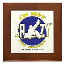 I'm Not Crazy (hockey) Framed Tile