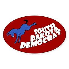 South Dakota Democrat Oval Bumpersticker