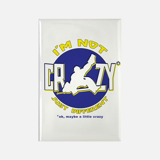 I'm Not Crazy (hockey) Rectangle Magnet