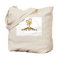 Ring of Fire Brown Logo Tote Bag