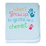 Future Chemist baby blanket