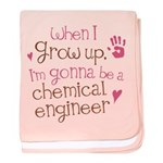 Future Chemical Engineer baby blanket