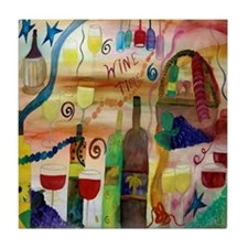 Wine Time Tile Coaster