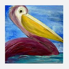 Pretty Pelican Tile Coaster