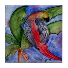 Pretty Parrot Tile Coaster